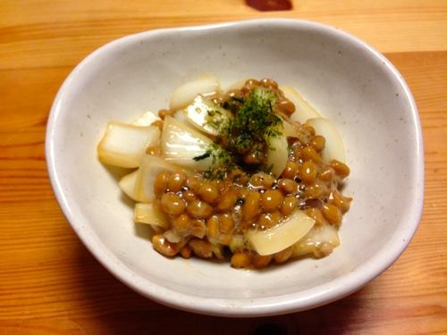 1新玉ねぎ納豆