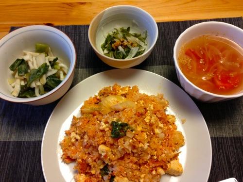 豆腐キムチチャーハンセット