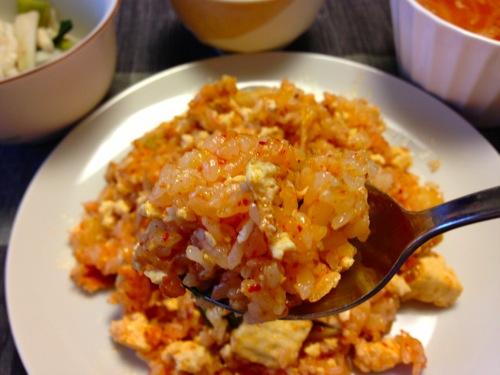 豆腐キムチアップ