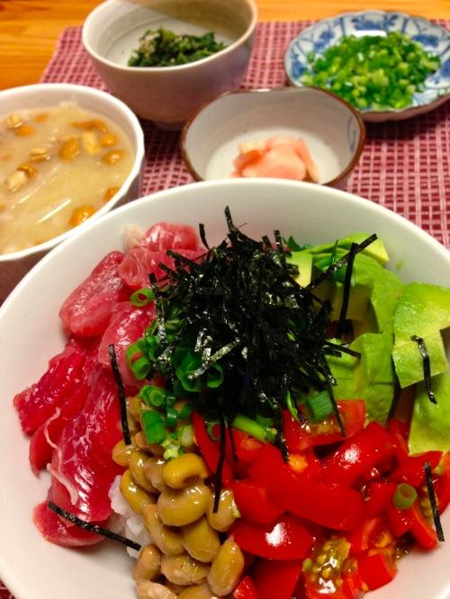 1マグロ・納豆丼セット