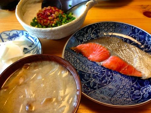 1紅鮭定食