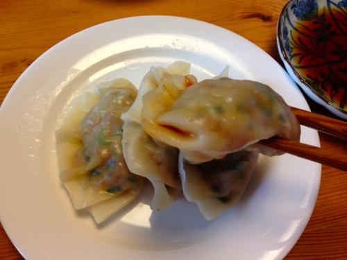 5蒸し餃子キムチアップ