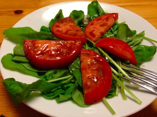 1ルッコラとトマトのイタリアンサラダ