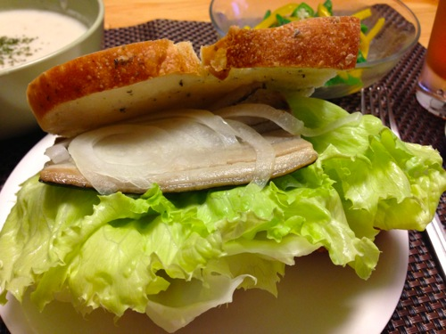 4焼きしめ鯖サンド