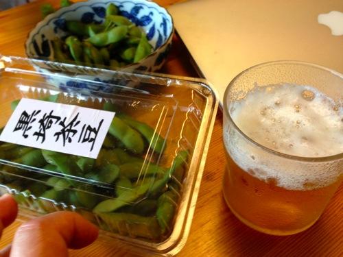 1朝穫れ茶豆