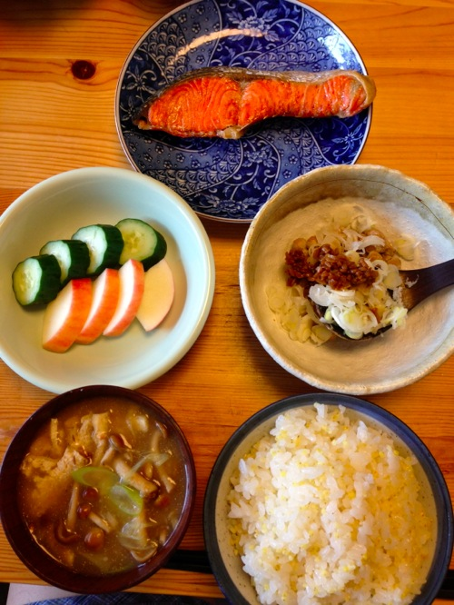 1紅鮭朝食