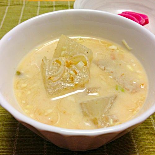 3冬瓜とミョウガの豆乳味噌汁