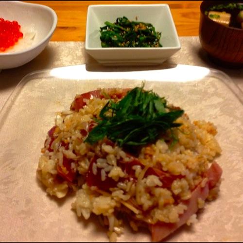 2鰹の混ぜ寿司セット