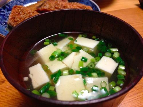 5豆腐の味噌汁