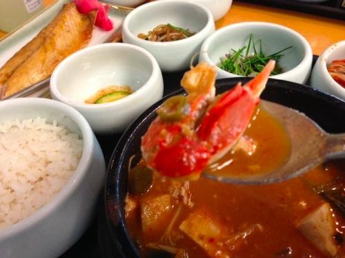 渡り蟹の味噌チゲ