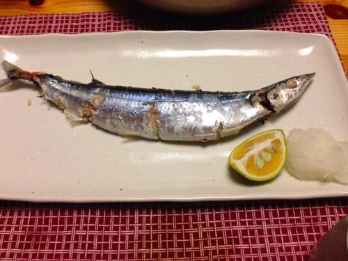 秋刀魚の蒸し焼き