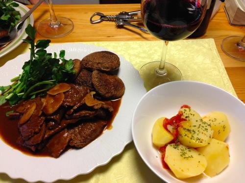 1牛の赤ワイン煮セット