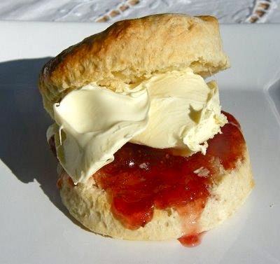 scone cream and jam