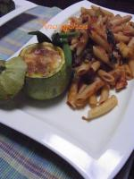 茄子とズッキーニと法蓮草のトマトペンネ