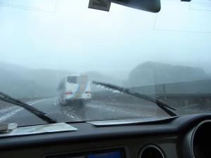 すごい雨~!