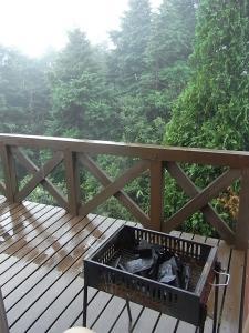 雨の中のBBQ