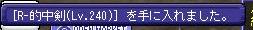 [R-的中剣(Lv.240)] を手に入れました。_1