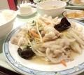 いつもの 肉野菜炒め定食w