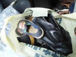 アンパンマンがプリントされた靴