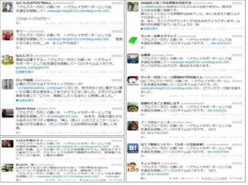 松本山雅ブログ反響