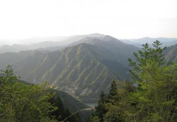 十津川村を見下ろす