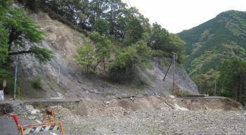 熊野町玉置口の崩落は手付かず