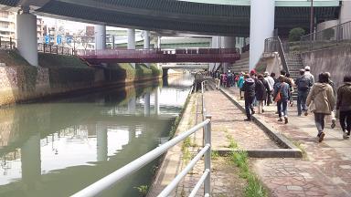 黒川 桜のトンネル散策コース