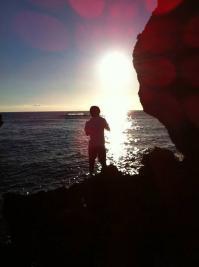 夕日がきれいな溶岩岩ポイント2