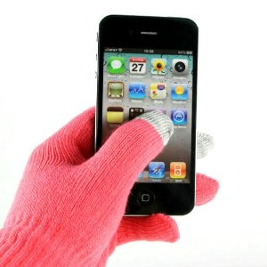 スマホ手袋 ピンク