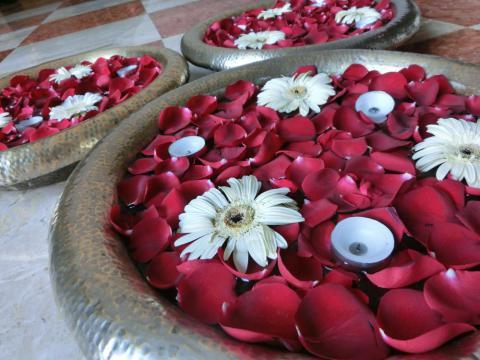 デリーホテルお花