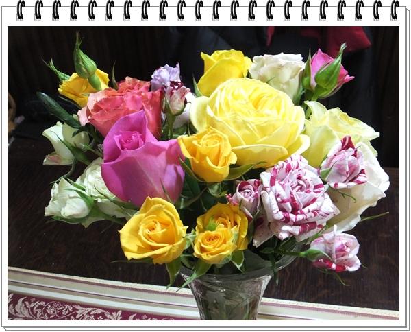薔薇の花と、