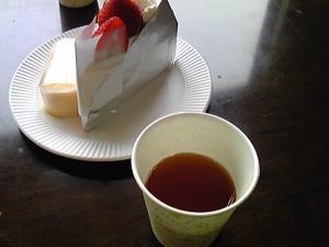 「ストロベリーショート&半熟チーズ&アイスティー」ストロベリーガーデン(福岡市)