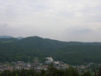 龍崖山から多峯主山方向