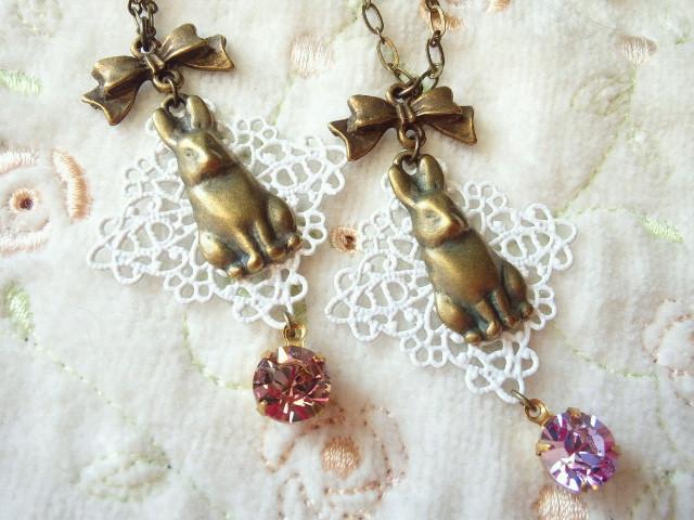 ドール用リボンとウサギとクリスタライズのNC2