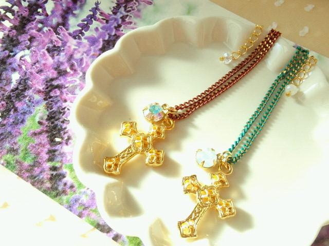 ドール用十字架とクリスタライズと塗装チェーンのNC新色1