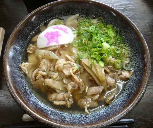 『資さんうどん 諸岡店 』かしわ汁うどん(520円)