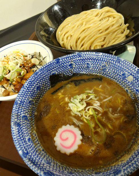 『中華蕎麦 とみ田@博多阪急催事』つけそば(中盛)、炙り肉飯
