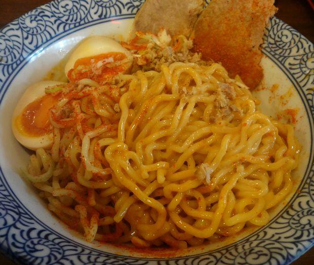 『中華蕎麦 翠蓮』汁なし担担麺(混ぜた図)