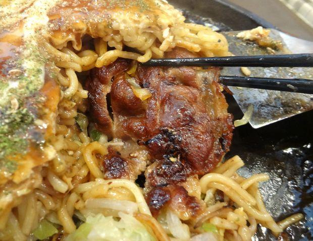 『お好み鉄板 炎屋』広島焼(肉・玉・そば麺、お肉)