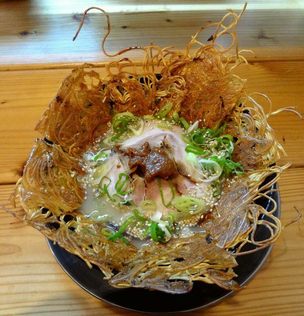 『壱の家』豚骨焼麺(800円)