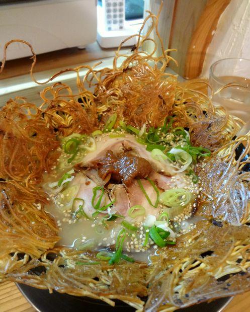 『壱の家』豚骨焼麺(アップ)