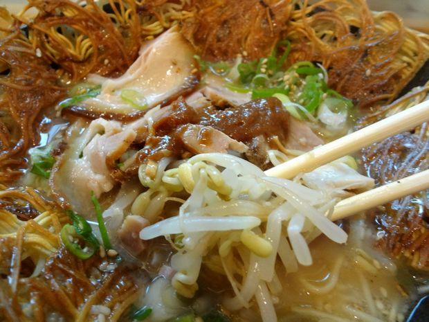 『壱の家』豚骨焼麺(もやし)