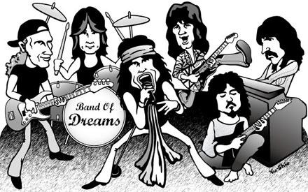Jon Lord Eddie Van Halen Steven Tyler Billy Sheehan 高崎晃 樋口宗孝 caricature