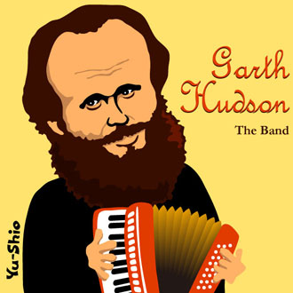 Garth Hudson The Band caricature