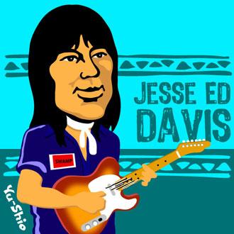 Jesse Ed Davis caricature