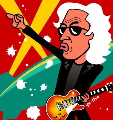 Jimmy Page Led Zeppelin caricature
