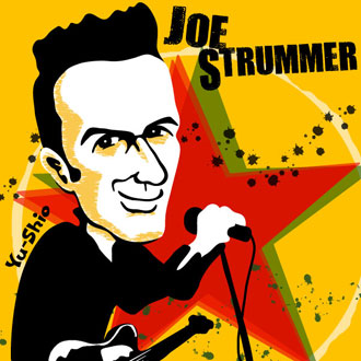 Joe Strummer Clash caricature