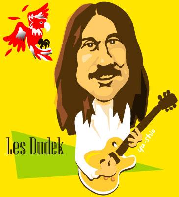 Les Dudek caricature