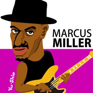 Marcus Miller caricature