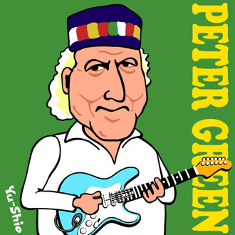 Peter Green caricature